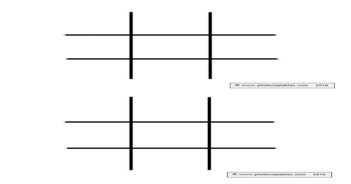noughts and crosses grid template