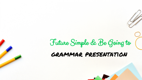 Future Simple and Be going to Grammar Presentation
