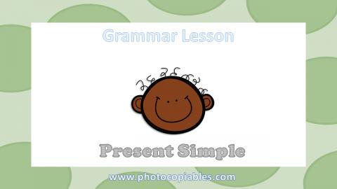 Present Simple Grammar Lesson slide 1