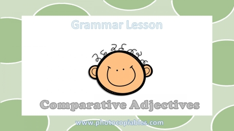 Comparative Adjectives Grammar Lesson slide 1