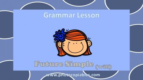 Future Simple Grammar Lesson slide 1
