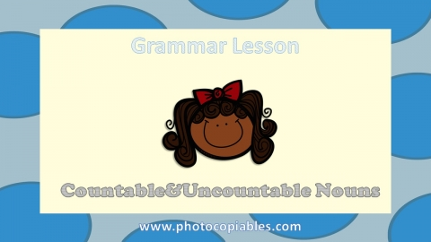 Countable and Uncountable Nouns Grammar Lesson slide 1