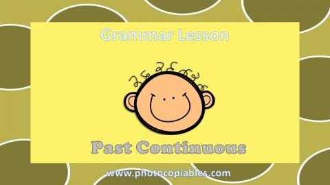 Past Continuous Grammar Lesson slide 1