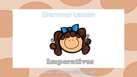 Imperatives Grammar Lesson slide 1