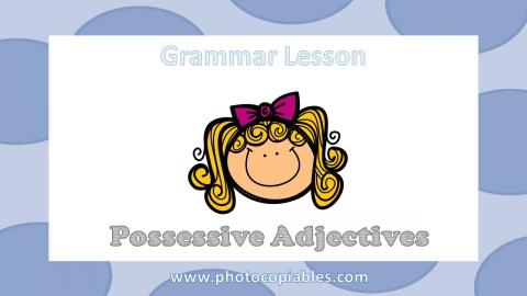 Possessive Adjectives Grammar Lesson slide 1