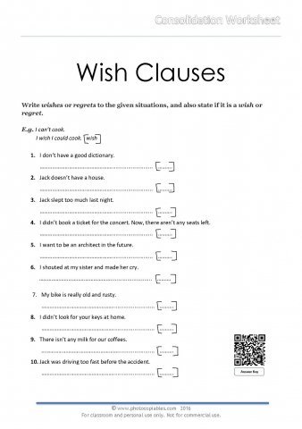 Wish Clauses_consolidation worksheet