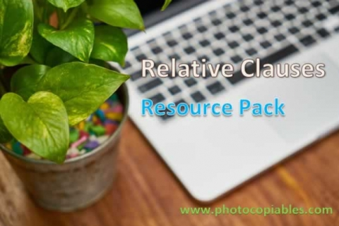 relative clauses resource pack