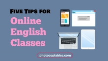 Five Tips for Online English Classes