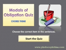 Modals of Obligation Interactive Exercise