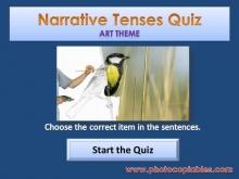 Narrative Tenses Interactive Exercise