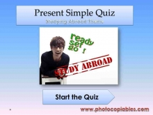 Present Simple tense interactive exercise_front