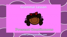 Present Continuous Grammar Lesson slide 1