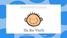 To Be verb Grammar Lesson slide 1
