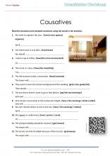 Causatives worksheet page 1