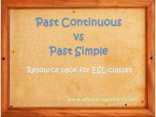 past simple past continuous resource pack