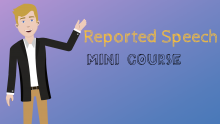 Reported speech mini course cover